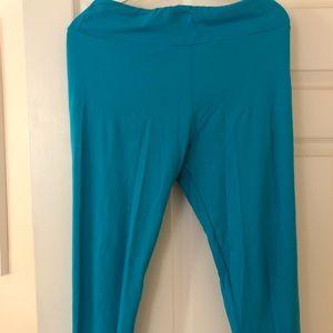 Turquoise LulaRoe T/C Leggings